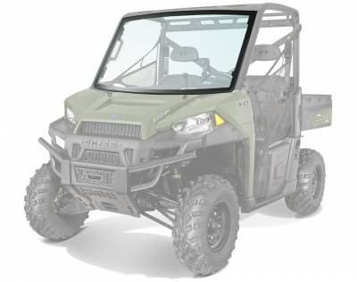 Polaris - Polaris Lock & Ride Pro Fit Glass Windshield