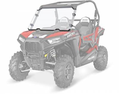 Polaris - Polaris Lock & Ride Full Poly Windshield