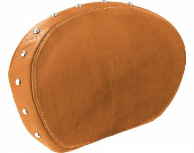 Body - Seats - Indian - Indian Motorcycle Genuine Leather passenger Backrest Pad - Tan