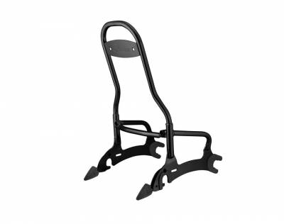 Body - Seats - Indian - Indian Motorcycle Tall Quick Release Passenger Sissy Bar- Black