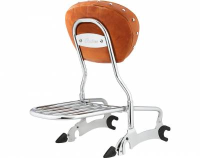 Body - Seats - Indian - Pinnacle Sissy Bar Luggage Rack - Chrome
