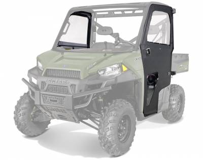 Cab Components - Doors - Polaris - Polaris Lock & Ride Pro Fit Canvas Doors With Poly Windows