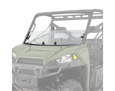Cab Components - Windshields - Polaris - Polaris Lock & Ride Pro Fit Half Windshield