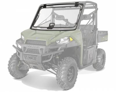 Cab Components - Windshields - Polaris - Polaris Lock & Ride Pro Fit Tip-Out Poly Windshield