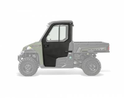 Cab Components - Doors - Polaris - Polaris Lock & Ride Pro Fit poly Doors w/Hinged Glass Windows