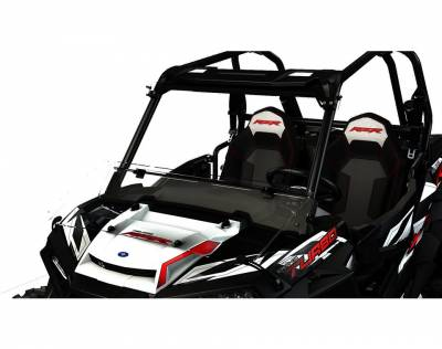 Cab Components - Windshields - Polaris - Polaris Flip-down Poly Windshield