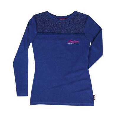 Apparel - Motorcycle - Indian - Women's Longsleeve Lace Panel Tee