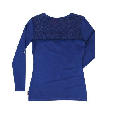 Indian - Women's Longsleeve Lace Panel Tee - Image 2
