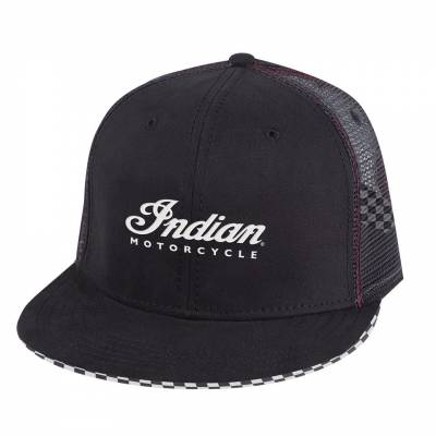 Apparel - Motorcycle - Indian - Checkered Hat