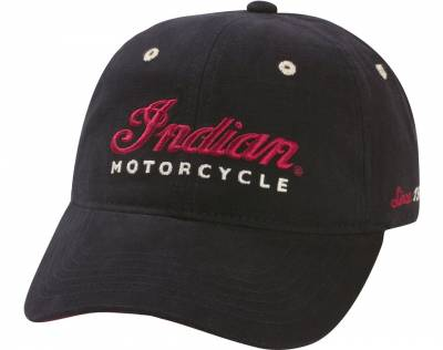 Apparel - Motorcycle - Indian - Black Logo Hat
