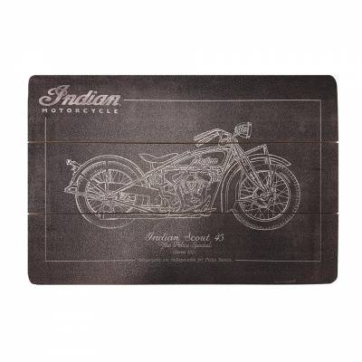 Apparel - Motorcycle - Indian - Wooden Chalk Sign